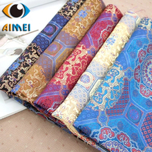 Factory direct sales of silk printing dragon groom brocade retro fabric ancient cheongsam dress jacquard fabric(China)