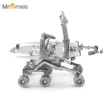 MrPomelo 3D Steel Laser Cut Nano Model Mars Rover Curiosity Rover Metal Puzzle Child Toys Roboter NASA Earth Adult DIY Toy Gift(China)