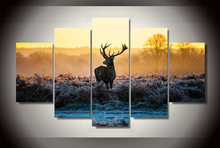 (Unframed) Printed African sunset deer Group Painting children's room decor print poster picture canvas Art Picture High Quality(China)