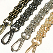 120cm Wide Bag Straps DIY 40cm-140cm Gold, Silver, Gun Black, Bronze 16mm Metal Chain Shoulder Strap Handles for Large Handbags(China)