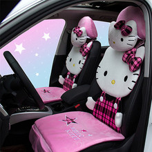 Car Cushion Cartoon Seat Cover Four Seasons General Car Decoration of Hello Kitty Interior Accessories Automobiles Car Styling