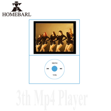 "HOMEBARL Metal Mini 1.8"" 3th LCD Video MP4 Music Player With Micro SD Card Memory TF Slot Speaker Cable Children Study Gift 6B"