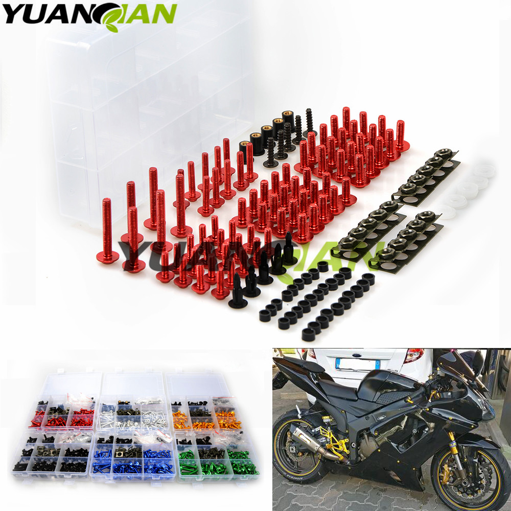FOR KAWASAKI zx6r zx636 zx10r z1000 z750r z1000sx ninja  Universal Motorcycle Fairing Bolt Screw Nuts Washers Fastener Fixation <br>