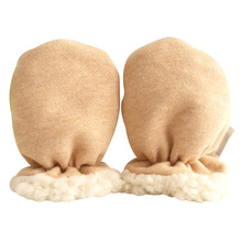 without finger gloves Elastic wrist Cashmere wind performance winter new born baby Mitten Anti Scratch Thicken Warm for infant