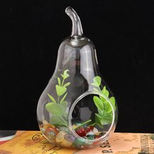 Pear Tabletop Flower Vase Glass Vase Dinner Planter Christmas Container Pots Home Wedding Decor Candlestick