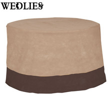 48 Inch Large Table Cover Waterproof Table Runner Outdoor Patio Round Table Chair Cover Furniture Protection Cover Home Textiles