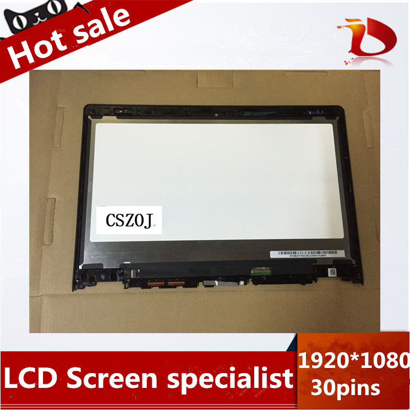(1920X1080) NEW For LENOVO YOGA 3 14 Touch LCD LED Assembly Screen+ Frame