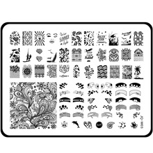 Nail Art Plates Lady Lips Dolphin Feather Butterfly Rose Crown Bow 15*20cm Stamping Polish Stamp Manicure Stencil Plus Size Gift