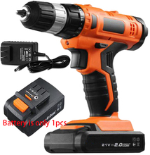 21V mini rechargeable lithium battery electric screwdriver Cordless electric Charging drill wood bit driver hand power tool