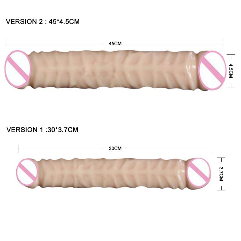 Huge Dildo Realistic Double Dildo lesbian Dildo Artificial penis soft dick masturbation Anal Massage adult sex product for women 1