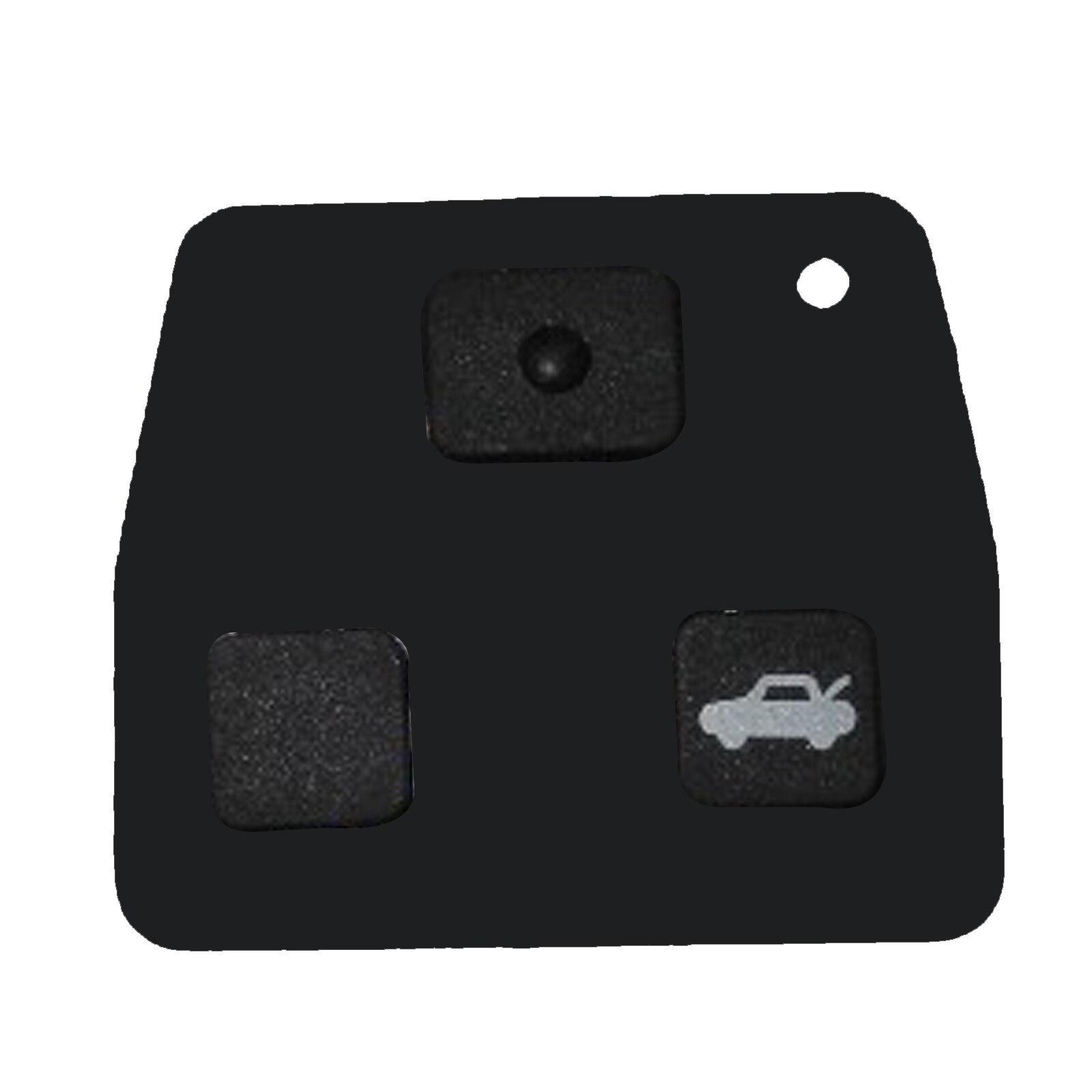 2t llave de repuesto control remoto carcasa para toyota aygo batería 2x sonda