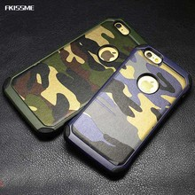 Buy FKISSME Shockproof Army Camo Camouflage Pattern Hard Back Cover Soft TPU Hybrid Armor Case iPhone 7 Plus 6 6S Plus 5 5S for $3.61 in AliExpress store