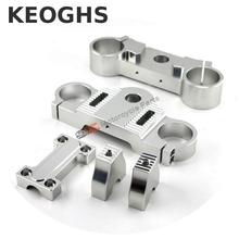 Keoghs Motorcycle Triple Trees Front Shocks Clamp High Workmanship Cnc Aluminum For Dirt Bike Motocross Ktm Kawasaki Modify