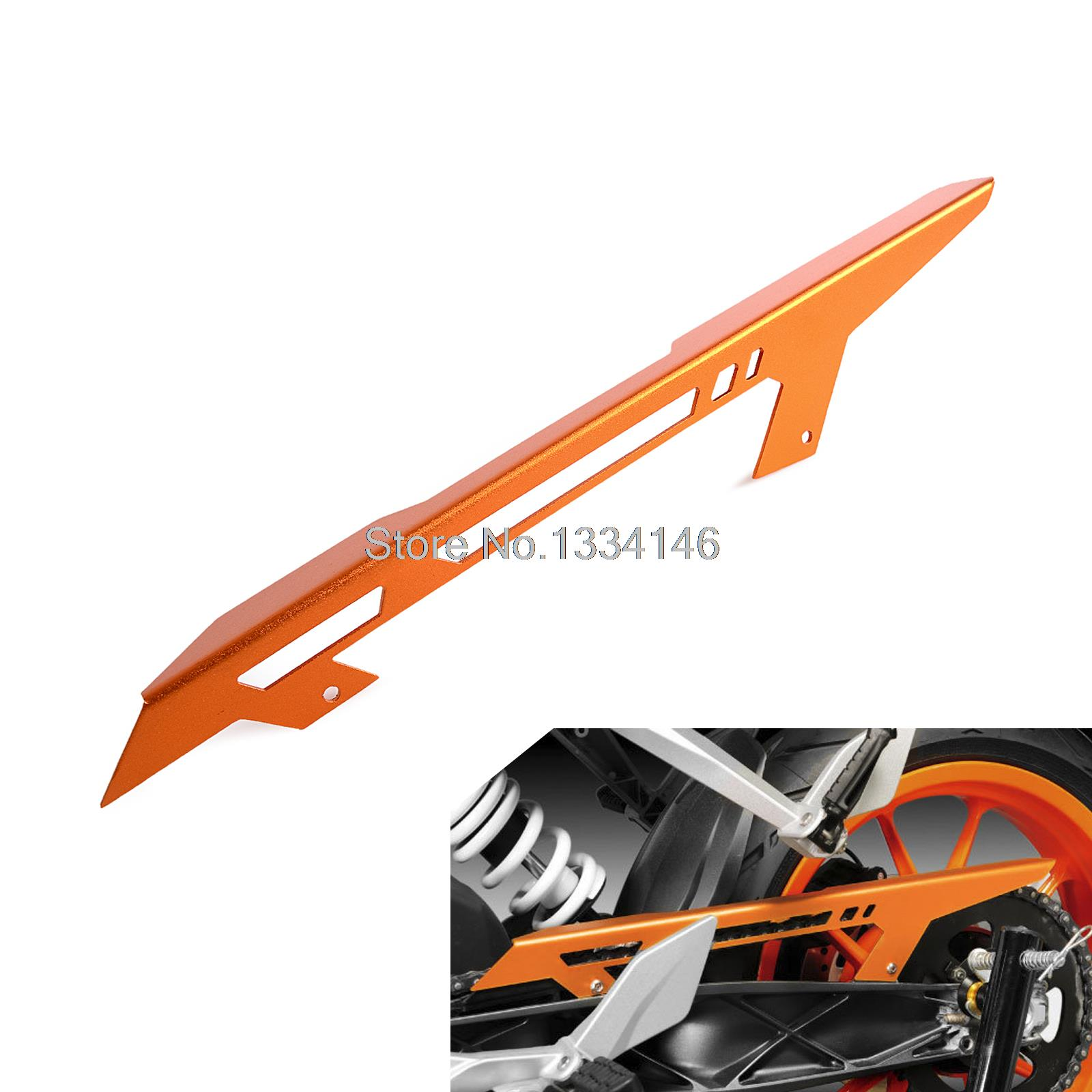 Orange Anodized Chain Guard Cover for KTM 125 200 390 Duke 2011-2016<br>