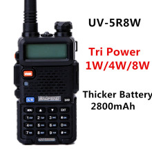 Baofeng High Power 8W UV-5R8W walkie talkie Tri Powe 1W/4W/8W 2800mAh Sticker Battery 10km UV5R8W two way radio+3 Pieces antenna