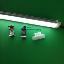 5pcs/lot 12V100cm embedded led bar light ,built in rigid strip ,5630 14W led linear strip for cove ,outline ,furniture profile(China)