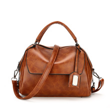 Women PU Leather Handbags Famous Brands Big Casual Women Bags Retro Tote Spanish Brand Shoulder Bag Ladies large Bolsos Mujer(China)