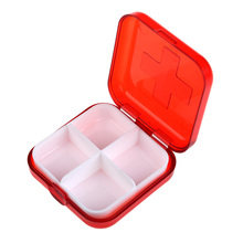 Hot Sale New High Quality Portable 4 Cells Empty Storage Pill Box Case for Pills Medicine Drug Candy Storage Box  BS