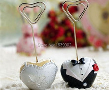 40pcs Classical groom and bride wedding place card holder favor cheap wedding favors Free Shipping