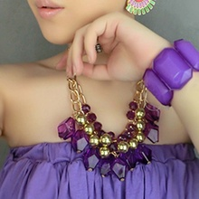New Brand Design Fashion Woman Sell Well Necklace Purple Bohemian Style Necklace(China)
