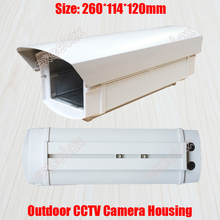 26cm Length Outdoor Waterproof CCTV Camera Housing Weatherproof Aluminum Alloy Casing for Security Zoom Box Body Bullet Camera