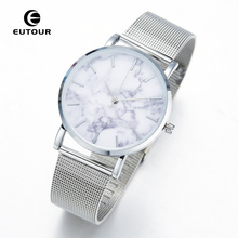 Eutour Brand Fashion Ladies Rose Gold Marble Watches Women Bracelet Quartz Watch Dress Simple Bangle Wristwatch relogio feminino