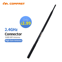 2pcs Cheap ! Comfast 2.4G 10 dBi Wireless WIFI Antenna Booster WLAN RP-SMA For Router USB Modem wifi adapter use(China)