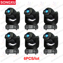 SONGXU 6pcs/lot 90W LED Moving Head Spot Stage Lighting 6/16DMX Channel Hot Sales 90W 3 Face Prism Led Moving Light/SX-MH90(China)