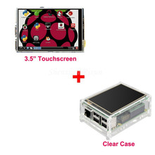 "Best Price Original 3.5"" LCD TFT Touch Screen Display for Raspberry Pi 2  / Raspberry Pi 3 Model B Board + Acrylic Case +Stylus"