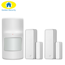Golden Security Wireless PIR Detector And Door sensor for GSM PSTN Home Security Alarm System 433MHz PIR Motion Sensor indoor