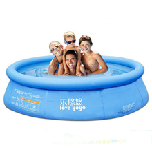 2016 Hot Sale Sports Outdoor Piscine Family Round PVC Children Inflatable Pools Piscina Baby Swimming Pool Size 173*50CM(China)