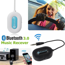 Wireless Bluetooth 3.0 Music Receiver Adapter Handsfree for Mobile Phone Tab Tablet to 3.5mm Home Car AUX Speaker
