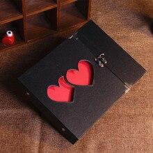 DIY Семья памяти Скрапбукинг альбомы Свадебный фотоальбом ручной работы Sticky Тип фото альбом(China)