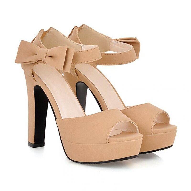 Women Sandals Heels Bowtie Fashion Open Toe Summer Sandals High Heels Women Shoes <br><br>Aliexpress