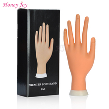 Pro Practice Nail Art Practice Hand Soft Training Display Model Hands Flexible Silicone Prosthetic Personal Salon Manicure Tools(China)