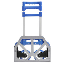 Travel Accessories Folding Aluminium Alloy Heavy Duty Luggage Trolley Hand Foldable Truck Wheels Rolling(China)
