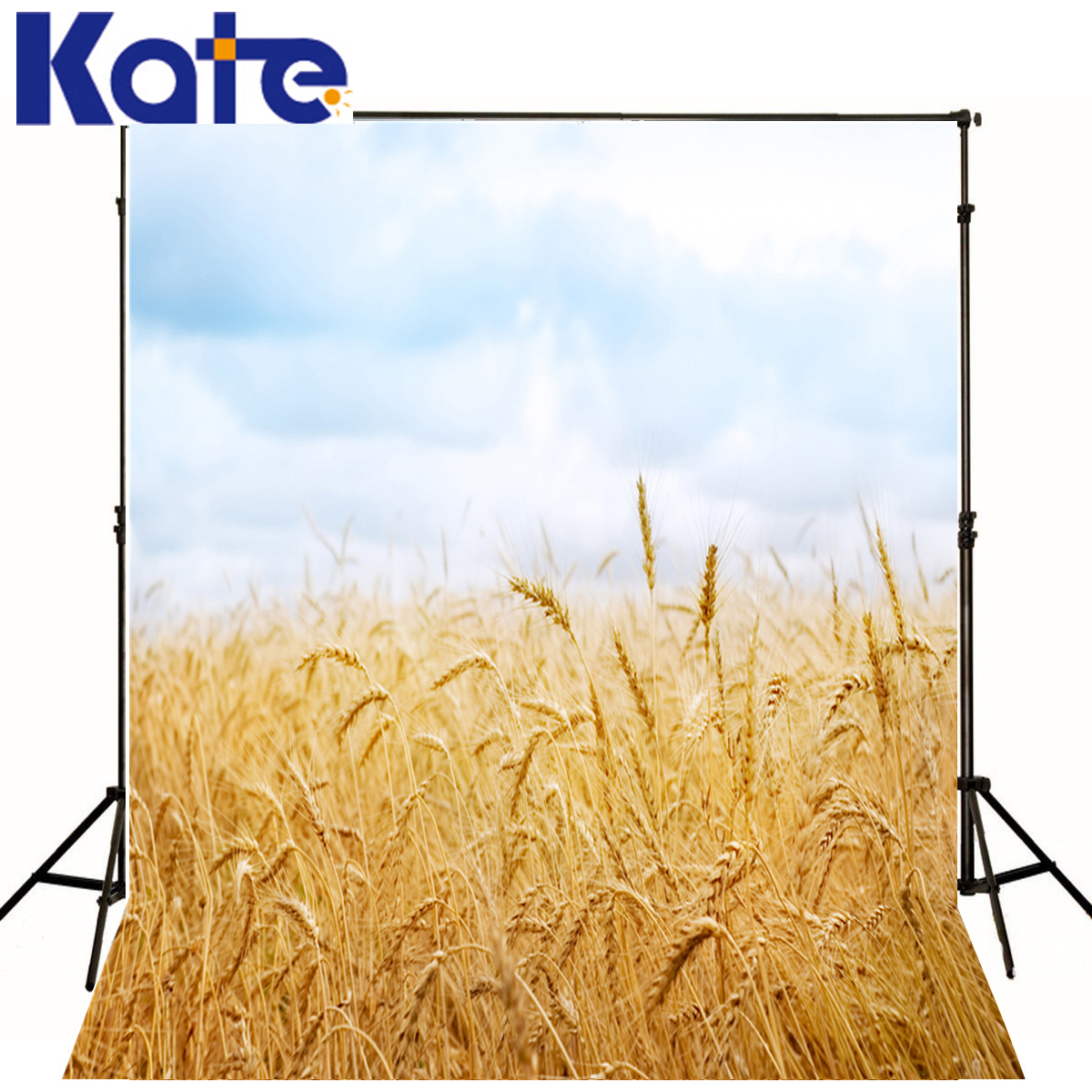 KATE Photo Background Mature Wheat Baby Studio White Clouds Photo Backdrops Background Newborn Backgrounds for Photo Studio<br>