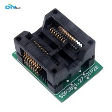 DIYmall SOP16 SOIC16 to DIP16 Socket Programmer Adapter Double PCB Board SOP16 (28) -1.27 By DIY FZ2530