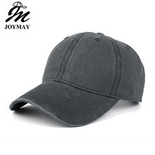 High quality Washed Cotton Adjustable Solid color Baseball Cap Unisex couple cap Fashion Leisure Casual HAT Snapback cap B126(China)