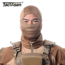TACVASEN Elastic Tactical Hood Mask Quick Dry Hunt Full Face Mask Paintball War Game Helmet Army Military Face Mask TD-SZLM-013(China)