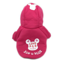 Fleece Dog Clothes Pet Clothing Small Dog Coat Cartoon Bear Puppy Jacket Apparel Chihuahua Hoody In Winter Keeping Warm 109(China)