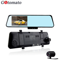 Gotomato Dual Lens Car DVR Mirror Rearview Big 4.3 Inch TFT Screen Full HD 1920 * 1080P Rear view Mirror Camera Recorder 2 Lens