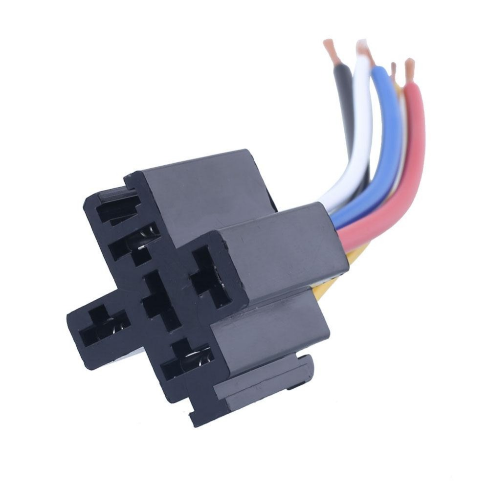 Auto Car 12V 40A 5Pin Control Device 5P Install Relay Amp Style Harness Socket Wires<br><br>Aliexpress