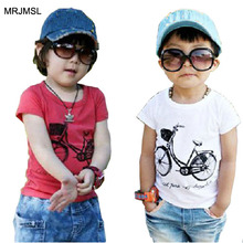 MRJMSL Cotton Size90~130 children t-shirts for kids tops tees child clothing boys short sleeve summer t shirts  bicycle