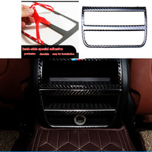 Buy 3D Carbon Fiber Car Rear Air Condition outlet Vent Frame Cover Trim Interior Decoration BMW 5 Series Accessories for $26.88 in AliExpress store