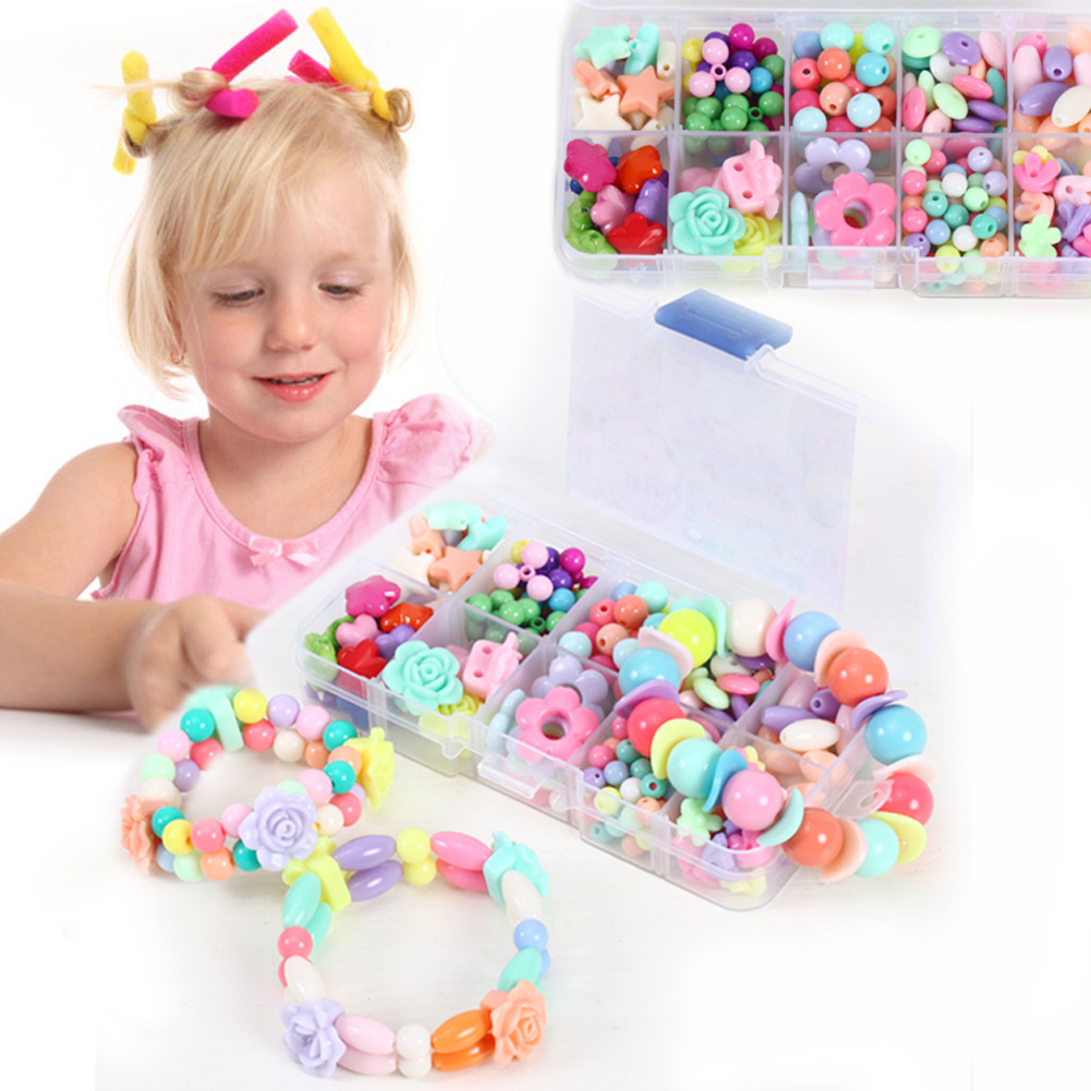Person - Assorted Plastic Acrylic Bead Kit Accessories DIY Bracelets Toys Jewelry Making Bead Kit