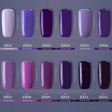 Purple Gel Nail Polish Blue High Quality Long-lasting Soak Off UV LED Beauty Nail Art Tools12 colors 12ml