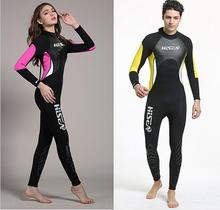 Couples 2.5mm Neoprene Wetsuit Men Women Spearfishing Wet Suit Diving Swimwear Lovers Swimsuit Long Sleeve Thermal Girls Boys