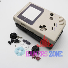 4pcs Black Grey Full Shell Housing Replacement Repair Pack Case Cover For GameBoy GB Classic DMG(China)