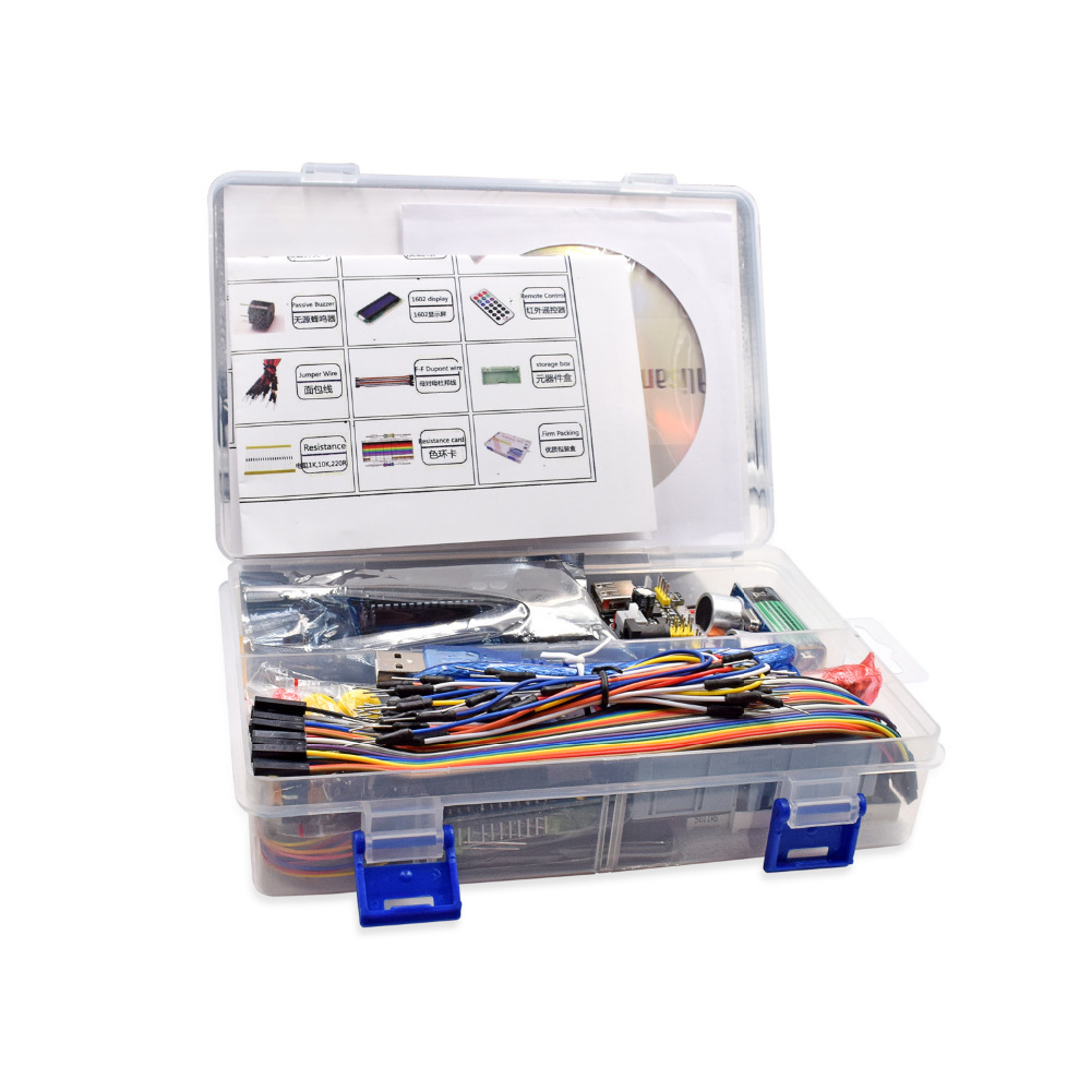 Free Shipping Original UNO R3 Starter Kit for R3 Upgraded Version Learning Suite Kit With Retail Box<br>